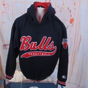 Starter Chicago Bulls Basketball Hoodie Large